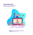 concept video marketing modern conceptual for vector image vector image