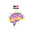 Creative brain logo design template vector image vector image