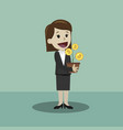 crypto-currency market lucky and businesswoman or vector image vector image