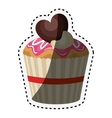 delicious cupcake birthday card vector image vector image