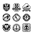 Diving Badges vector image vector image
