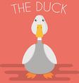 Duck mascot vector image vector image