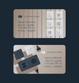 electric supplies set business cards vector image vector image