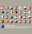 european union round flags vector image