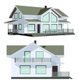Family house in two perspective views vector image