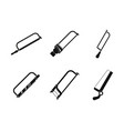 hacksaw icon set simple style vector image