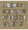 hand drawn doodles alphabet vector image vector image