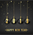 happy new year 2019 new year and christmas vector image vector image