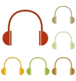 Headphones sign vector image vector image