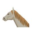 horse cartoon farm mammal animal icon vector image vector image