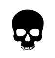 human skull isolated on blackcolor symbol vector image vector image