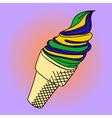 Ice cream Pop art vector image