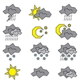 icon set weather logos vector image