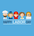 international labor day vector image