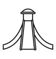 kid aquapark slide icon outline style vector image