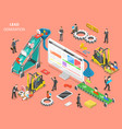 lead generation flat isometric concept vector image vector image