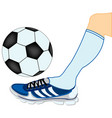 leg of the soccer player with ball vector image