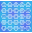 Line Circle Web Business Office Icons Set vector image vector image