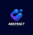 logo abstract gradient colorful style vector image vector image
