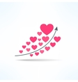 love graph with hearts Liking raise vector image vector image