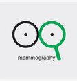 mammography logo will prevent appearance of breast vector image vector image