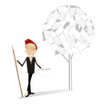 Man and document tree vector image vector image