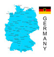 map of germany with flag on white vector image vector image