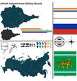 Map of Jewish Autonomous Oblast vector image vector image