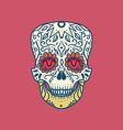 Mexican Detailed Skull vector image vector image