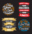 motivation quote and saying set good for print vector image vector image