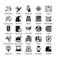 pack maps and navigation glyph icons 4 vector image vector image