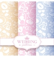 Pale romantic seamless patterns vector image vector image