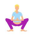 pregnancy yoga asana isolated icon