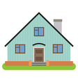 private house with chimney vector image vector image