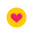 red heart love - concept icon in flat graphic vector image