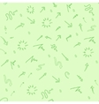 Seamless doodle ink pointer and arrow pattern vector image