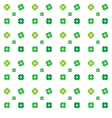 Seamless pattern clovers on white backg vector image vector image