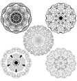 set from five round mandalas vector image vector image