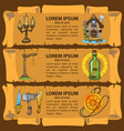 set of banners imitating ancient papyrus three vector image vector image