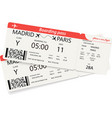 set of two red boarding pass tickets vector image vector image