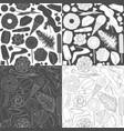 set patterns glamorous female vector image vector image