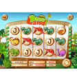Slot game template with dinosaur characters vector image vector image