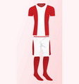 soccer uniform vector image