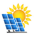 solar panels alternative energy source vector image vector image