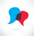 speech bubble abstract shape icon vector image vector image