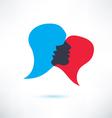 speech bubble abstract shape icon vector image