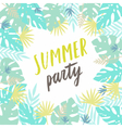 Summer party template Flyer poster vector image vector image