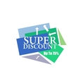 Super Discount sticker Offer sticker Super vector image vector image