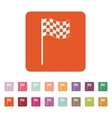 The checkered flag icon Finish symbol Flat vector image vector image