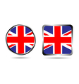 united kingdom england uk flag buttons vector image vector image